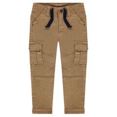 Pantalón de sarga con bolsillos