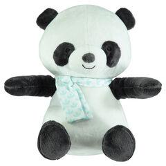De materia acolchada de terciopelo con pandas