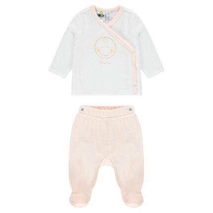 356c2d8cc Pijama de terciopelo estampado ©Smiley Baby - Orchestra ES
