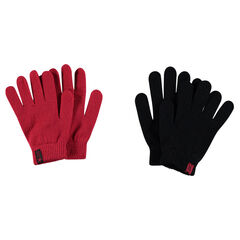 Lote de 2 pares de guantes de punto
