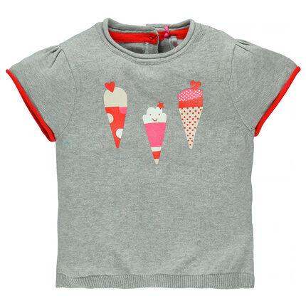 Jersey manga corta con impresos con helados