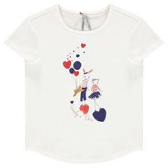 Camiseta de manga corta con estampado de fantasía brillante