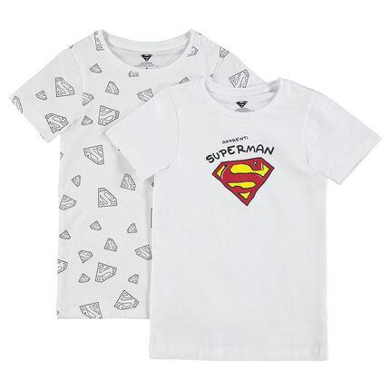 Juego de 2 camisetas con estampado con logo ©Warner Superman