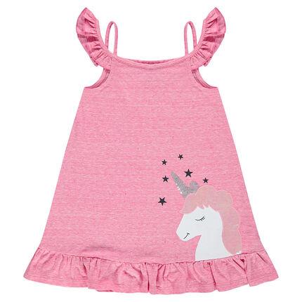 Túnica de punto con unicornio de fantasía y hombros de punto calado