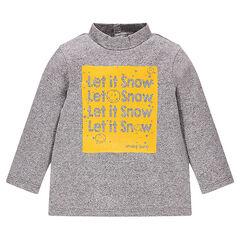 Camiseta interior de tejido de punto con fantasía con estampado