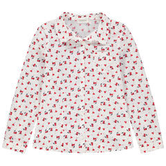 Camisa de manga larga con corazones estampados all over
