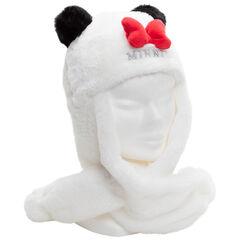 Gorro tipo bufanda de borreguillo Minnie Disney con orejas de relieve
