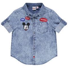 Chemise manches courtes à badges Mickey Disney et poche