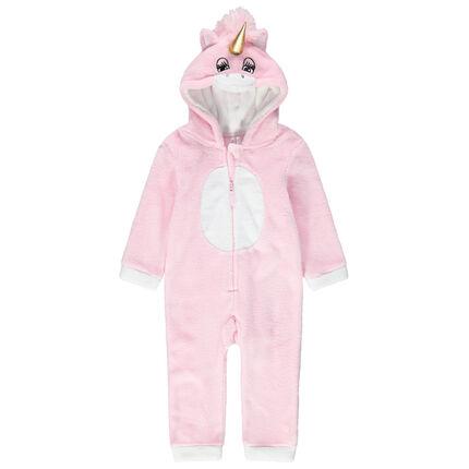 Pijama unicornio de borreguillo con detalles bordados