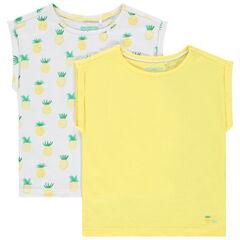 Lot de 2 t-shirts manches courtes uni / imprimé , Orchestra