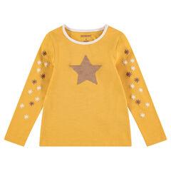 Camiseta de punto de manga larga con estrella de lentejuelas mágicas