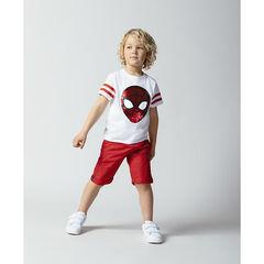 T-shirt manches courtes motif Spiderman en sequins magiques