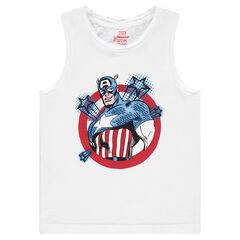 Camiseta de punto con estampado Marvel con Capitán América
