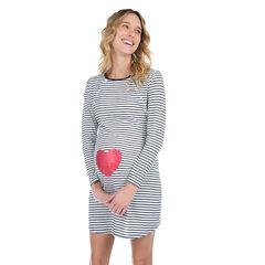 Camisón de noche de embarazo y lactancia con estampado de corazón