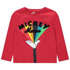 Camiseta de manga larga de algodón ecológico con estampado de Mickey