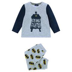 Pijama de terciopelo estampado BATMAN