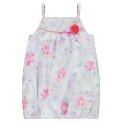 Vestido sin mangas con estampado de flores