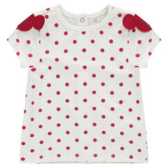 Camiseta de manga corta de lunares Disney con perfiles de Minnie