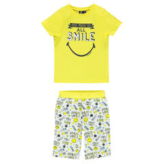 Pijama corto con estampado ©Smiley