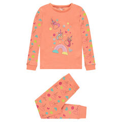 Pijama de punto con unicornios estampados