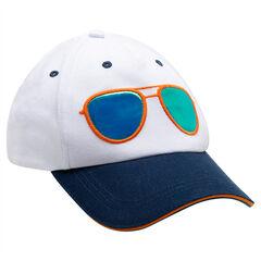 Visera de sarga bicolor con gafas de efecto espejo