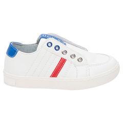Zapatillas deportivas bajas con velcros y apliques en contraste del 28 al 35