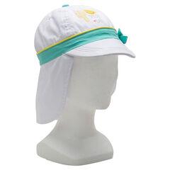 Gorra de sarga con protector de nuca y estampado ©Smiley