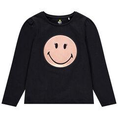 T-shirt manches longues print SmileyWorld pour enfant fille , Orchestra