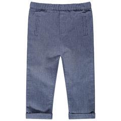Pantalón de punto de fantasía con bolsillos