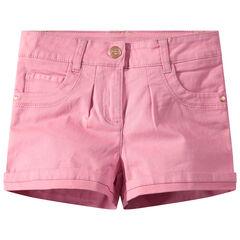 Pantalón corto de sarga lisa de colores
