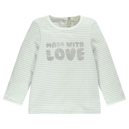 Camiseta manga larga con rayas