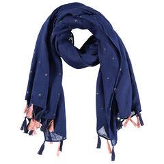 Júnior - Turbante de tejido vaporoso de poliéster con estrellas bordadas y pompones