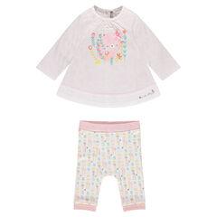 Conjunto de túnica y legging para recién nacida