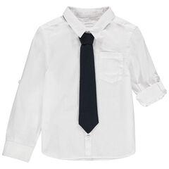 Camisa de manga larga de gala con corbata desmontable , Orchestra