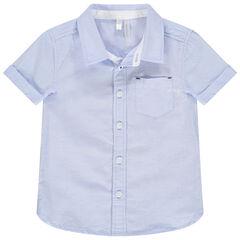 camisa mangas cortas à bolsillo pecho