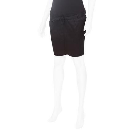 Falda de premamá de sarga con cordones que se anudan