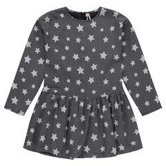 Júnior - Vestido de manga larga con estrellas all-over