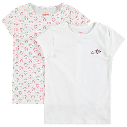Juego de 2 camisetas de algodón con estampado de Minnie Disney