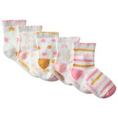 Juego de 5 pares de calcetines con dibujos de colores
