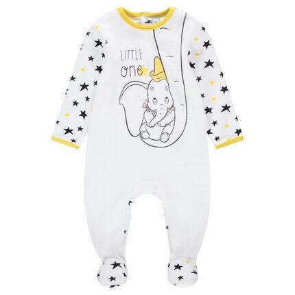 Pijama de terciopelo con estampado de Dumbo ©Disney