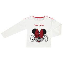 Camiseta de manga larga con Minnie Disney de lentejuelas mágicas