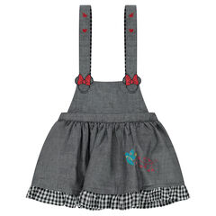 Vestido de tirantes de chambray con bordados de Minnie