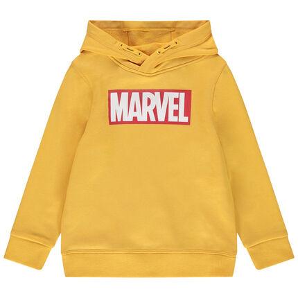 Sudadera de felpa con capucha y mensaje estampado de Marvel