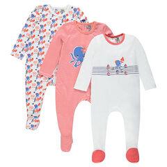 Lote de 3 pijamas de fantasía con abertura que se adapta a cada edad