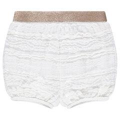 Pantalón corto estilo bloomer de encaje