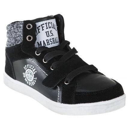 Zapatillas de deporte de caña alta con velcro con cremallera US Marshall