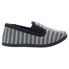 Zapatillas de rayas con parche ©Smiley