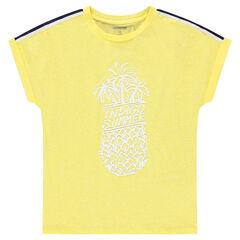 Júnior - Camiseta de manga corta con estampado de piñas