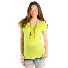 Camiseta manga corta para el embarazo de color liso