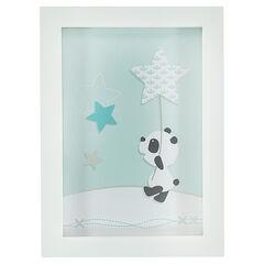 Cuadro con dibujo de panda 30 x 22 cm